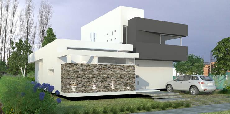 Vivienda LR – La Peregrina – Neuquén Capital: Casas de estilo  por ARKIZA
