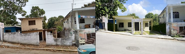 ANTES Y DESPUES . : Casas de estilo moderno por 3HOUS