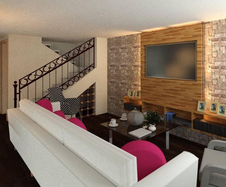 Living room by Perfil Arquitectónico