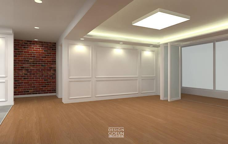 은하마을 49평 리모델링_ Design by Goeun: 디자인고은의  거실