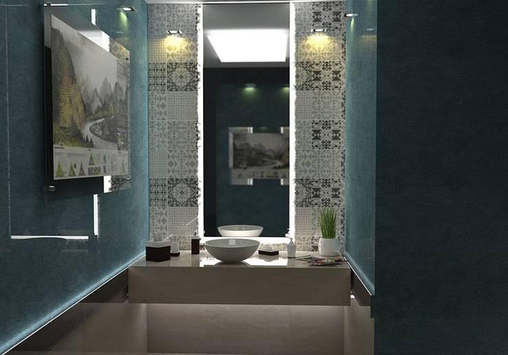 بعض غرف فيلا بالتجمع:  حمام تنفيذ Taghred elmasry