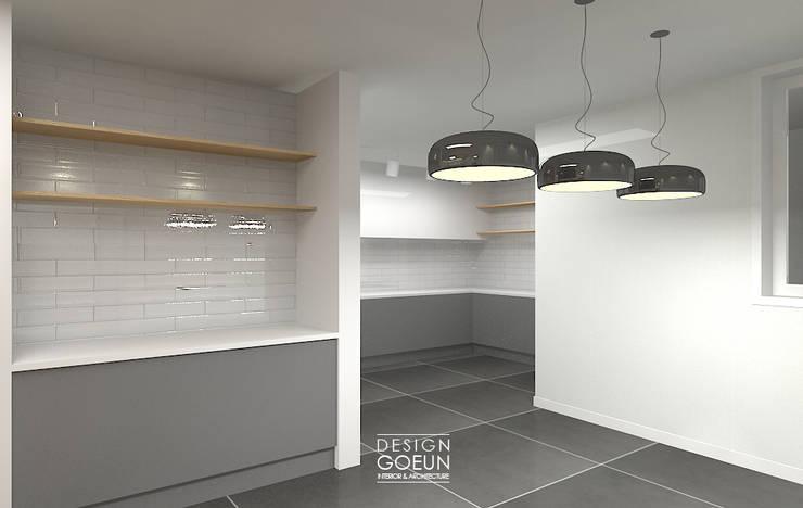[부천인테리어] 49평 리모델링_ Design by Goeun: 디자인고은의  주방