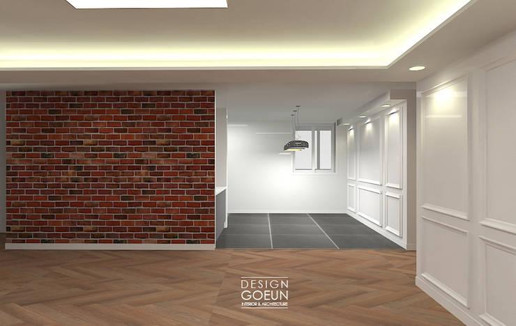 [부천인테리어] 49평 리모델링_ Design by Goeun: 디자인고은의  거실