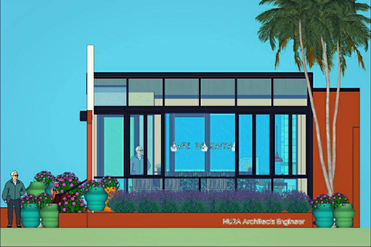 Cafe de Kaiya :   by NURA Architects Engineer นุรา สถาปนิกวิศวกร