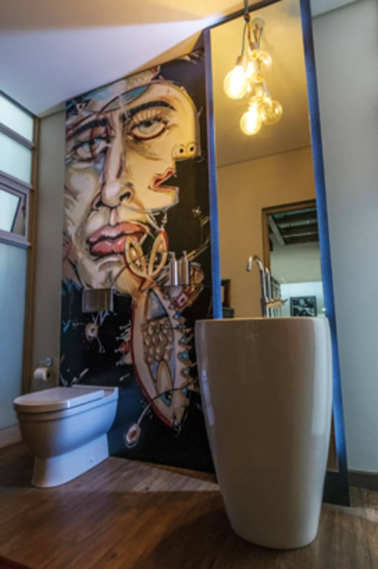 Southdowns:  Bathroom by Full Circle Design, Eclectic