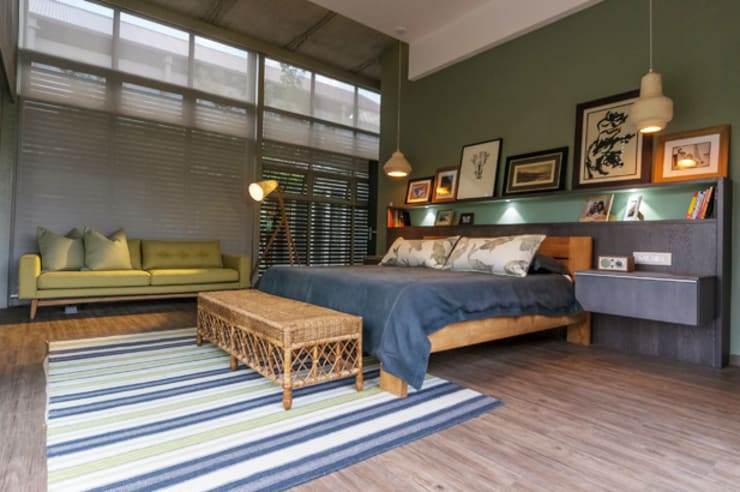 Southdowns:  Bedroom by Full Circle Design, Modern