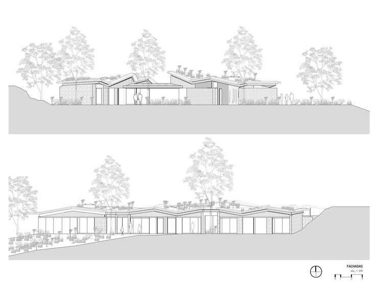 Fachadas Casas de estilo rural de OPUS Rural