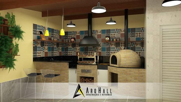 Projekty,  Kuchnia zaprojektowane przez Arqhall Arquitetura e Gerenciamento