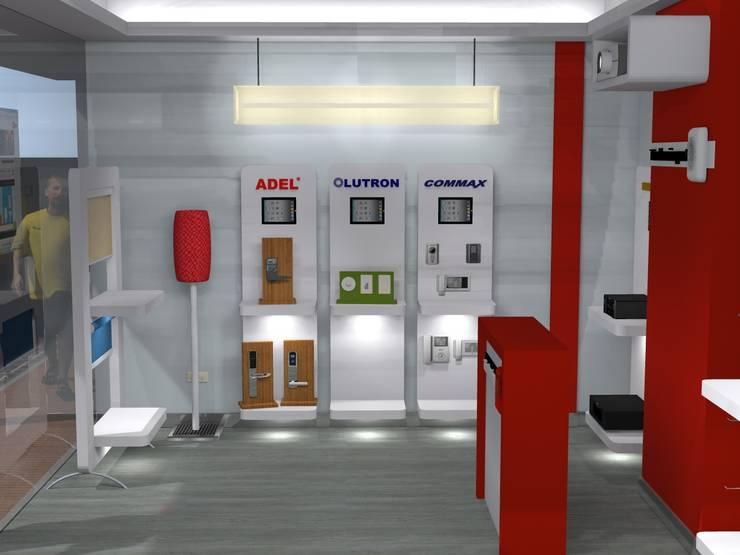 stands: Espacios comerciales de estilo  por ConstruKapital
