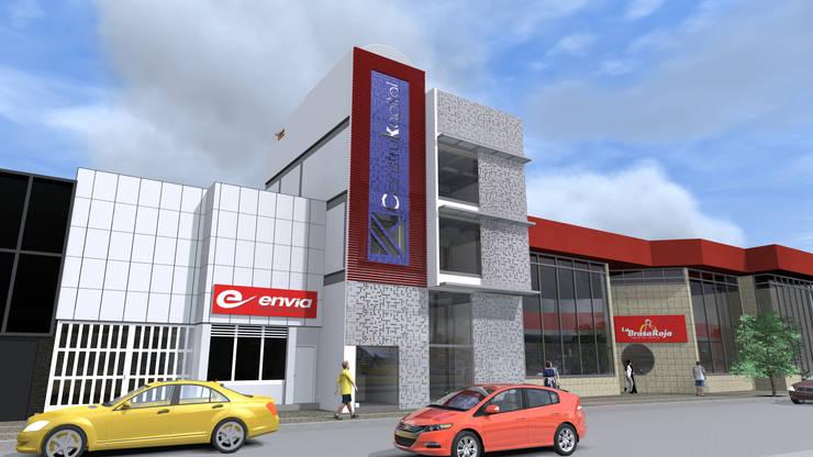 Fachada: Oficinas y Tiendas de estilo  por ConstruKapital