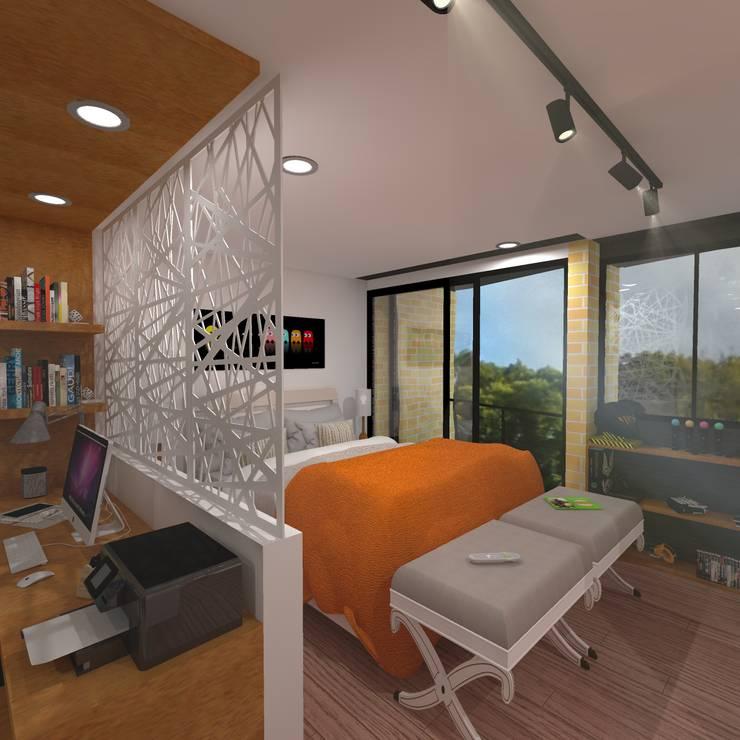 Habitacion: Casas de estilo  por ConstruKapital