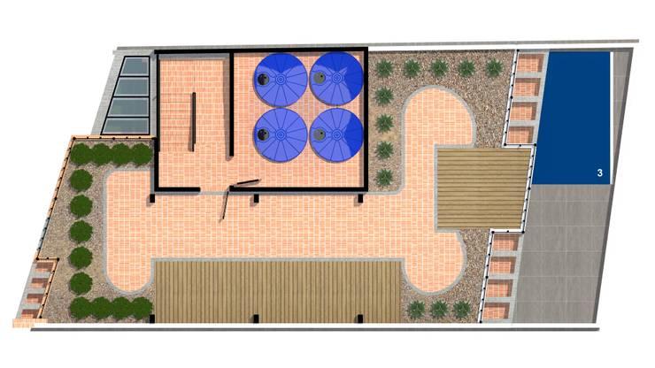 planta de cubierta: Casas de estilo  por ConstruKapital