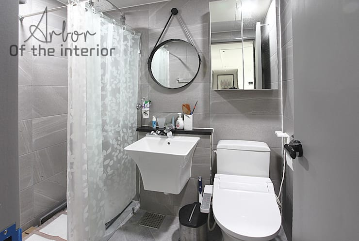 인천 송도신도시 풍림아이원 1차 33평 확장공사: 디자인 아버의  욕실,