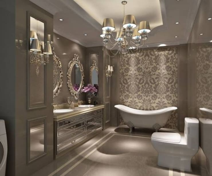 INTERIOR FLAT: modern Bathroom by Archie-Core