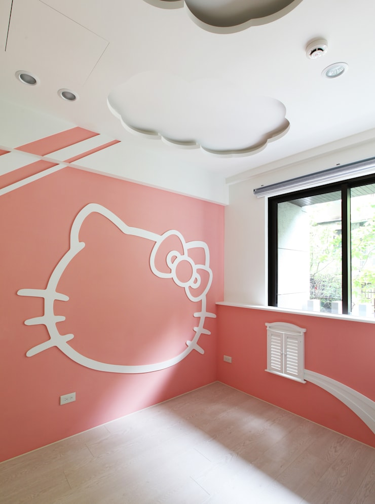 Chambre de style  par 築一國際室內裝修有限公司, Moderne