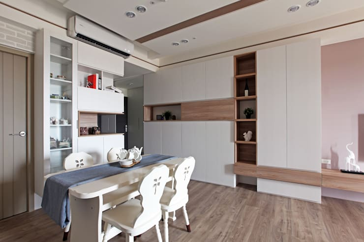 Comedores de estilo  por 築一國際室內裝修有限公司