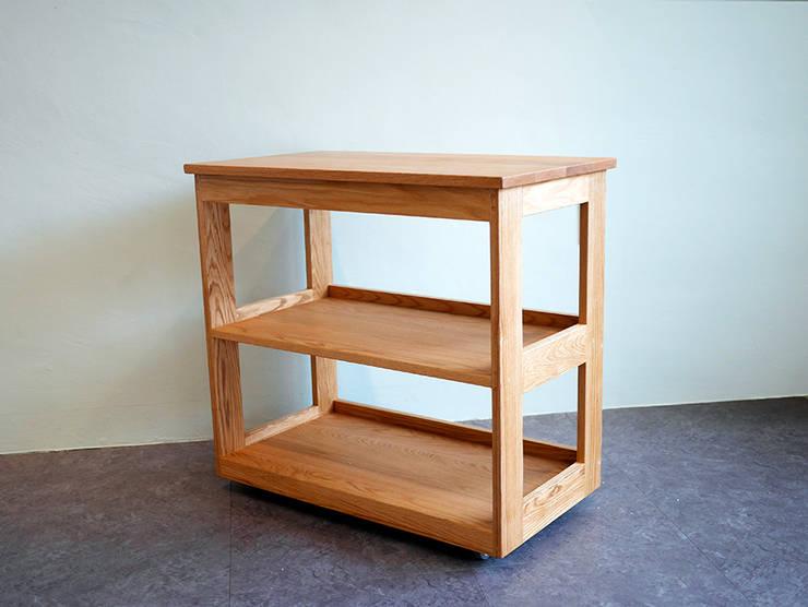 레드오크로 제작한 주방용웨건/이동식 콘솔 : 나무모아의  다이닝 룸,