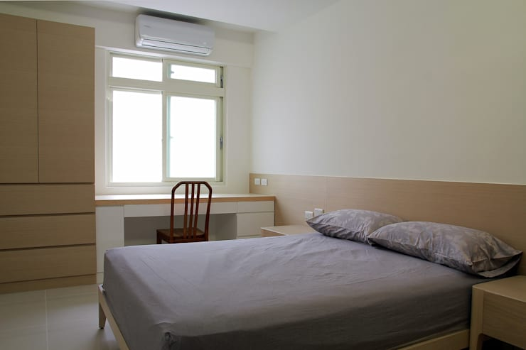 Tranquil:  臥室 by 築一國際室內裝修有限公司