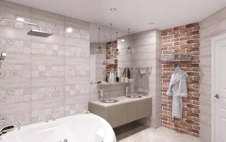 Baños de estilo  por Мастерская дизайна Онищенко Марии