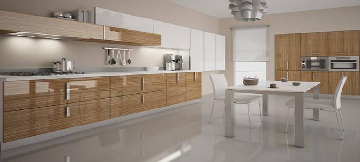 Feza Mutfak – Akrilik mutfak dolapları: modern tarz Mutfak