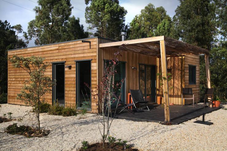 Rumah kayu oleh Rusticasa, Rustic Kayu Wood effect