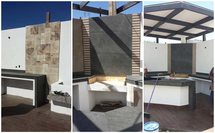 Proceso de colocación de Acabados: Jardines de estilo  por Daniel Teyechea, Arquitectura & Construccion