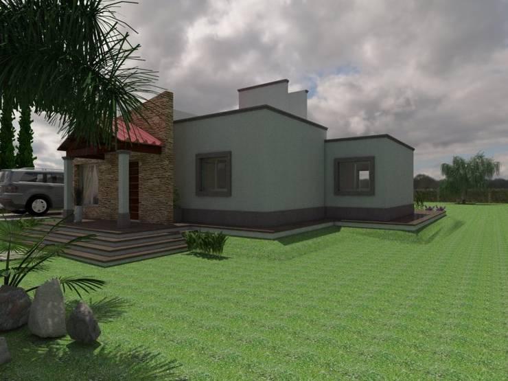 Fachada Principal: Casas de estilo  por Gastón Blanco Arquitecto