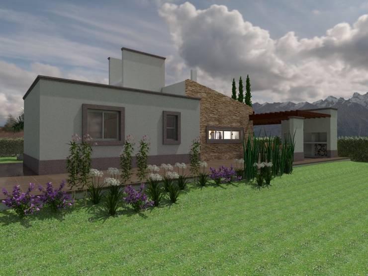 Fachada Posterior: Casas de estilo  por Gastón Blanco Arquitecto
