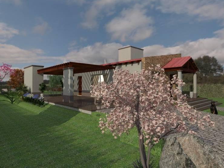 Fachada Oeste: Casas de estilo  por Gastón Blanco Arquitecto