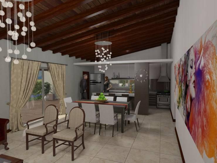 Estar - Comedor: Livings de estilo  por Gastón Blanco Arquitecto