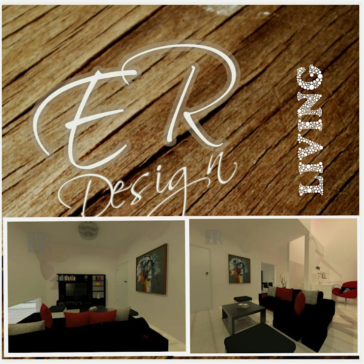 Duplex chacras del norte, Córdoba: Livings de estilo  por ER Design.    @eugeriveraERdesign,