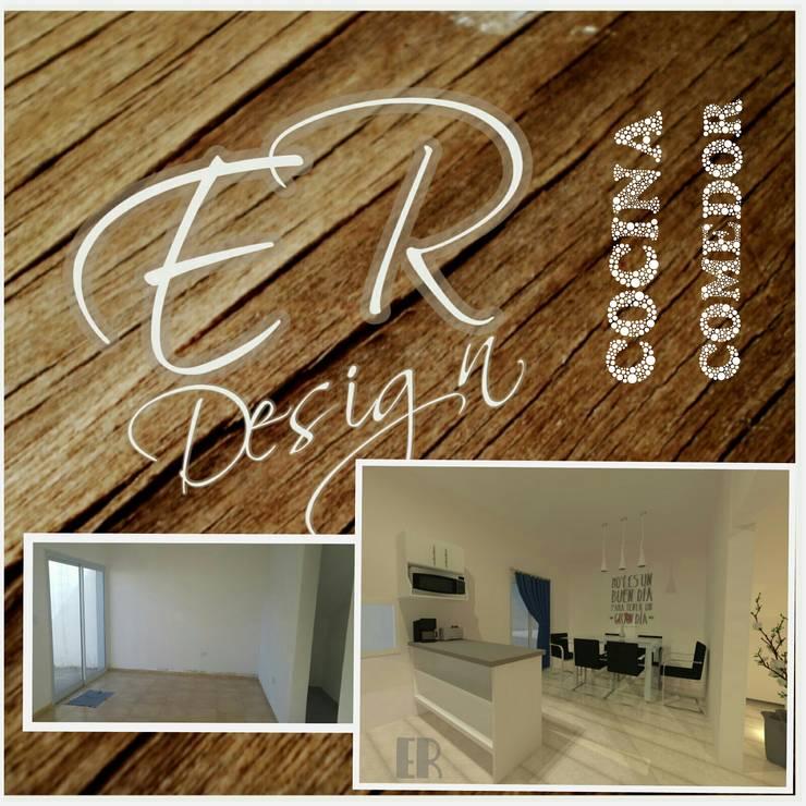 Duplex chacras del norte, Córdoba: Cocinas de estilo  por ER Design.    @eugeriveraERdesign,