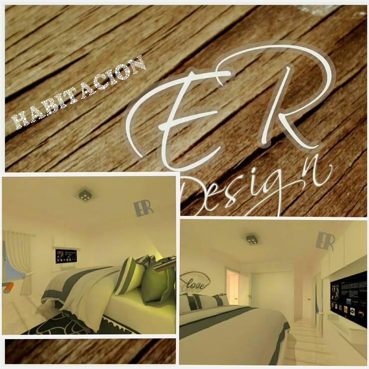 Duplex chacras del norte, Córdoba: Dormitorios de estilo  por ER Design.    @eugeriveraERdesign,