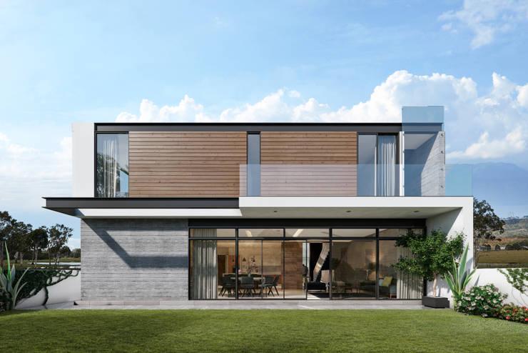 Fachada posterior: Casas de estilo  por ORTHER Architects
