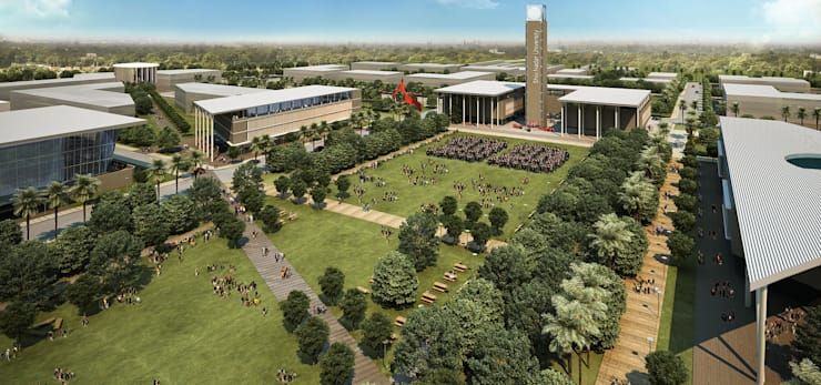 SHIV NADAR UNIVERSITY:  Commercial Spaces by INI INFRASTRUCTURE & ENGINEERING