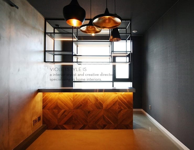일산 요진와이시티 펜트하우스: 바이올렛스타일의  방,모던