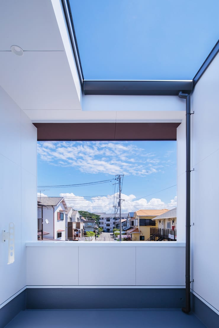 Balcon, Veranda & Terrasse originaux par 一級建築士事務所シンクスタジオ Éclectique