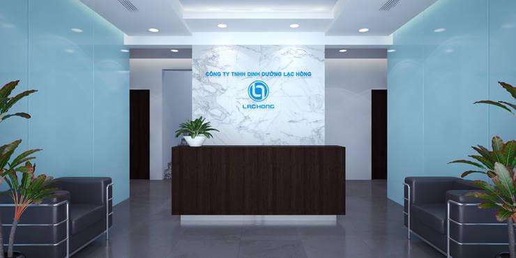 Thiết kế thi công nội thất văn phòng Lạc Hồng - Hưng Yên:  Bathroom by Nội Thất TNC