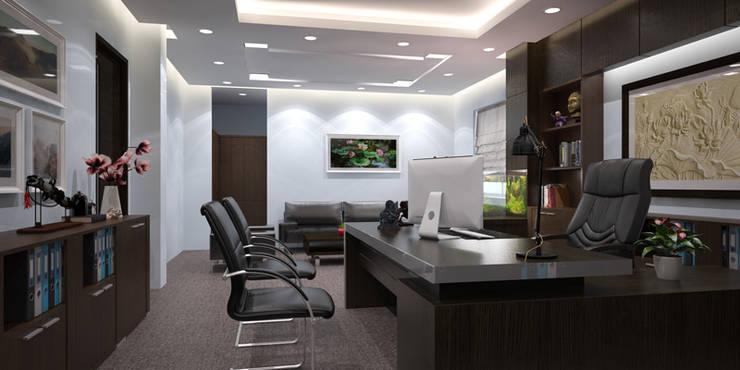 Thiết kế thi công nội thất văn phòng Lạc Hồng – Hưng Yên:  Multimedia room by Nội Thất TNC