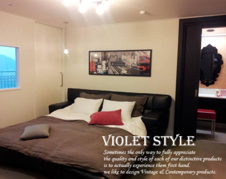 검단 47평형: 바이올렛스타일의  침실