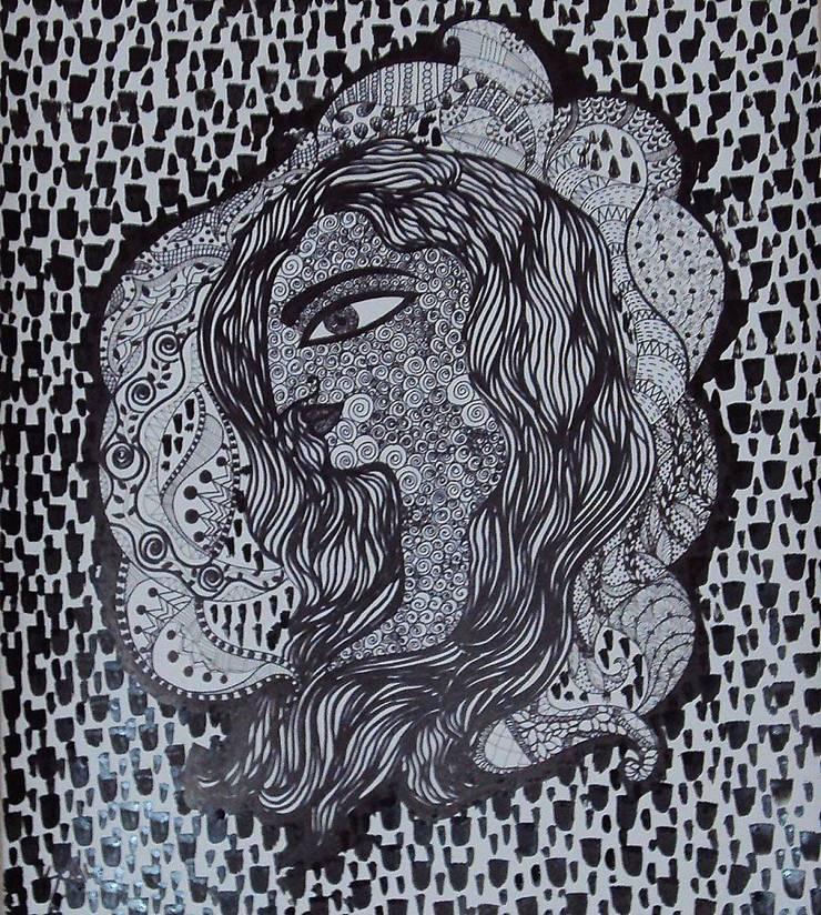 Self conversation:  Artwork by Indian Art Ideas