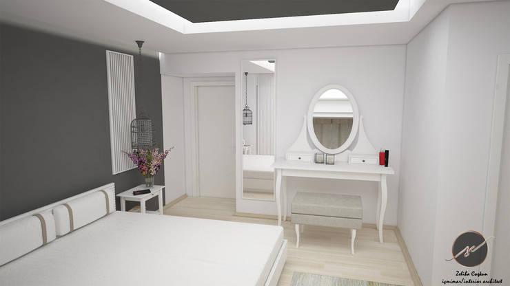 İz Tasarım ve İçmimarlık – B-İ Yatak Odası Tasarımı:  tarz Yatak Odası