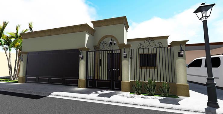 Fachada principal: Casas de estilo  por Probase Project Management