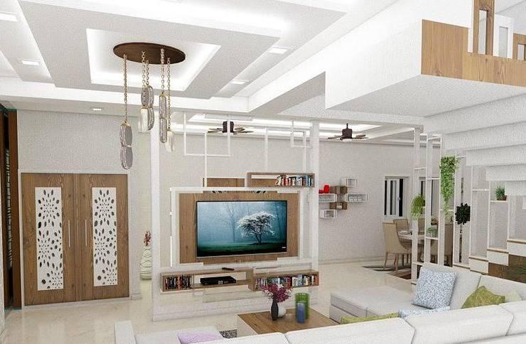 Living Room :   by Nabh Design & Associates