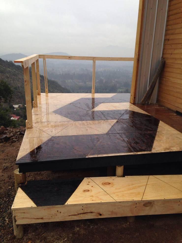 Vivienda Prefabricada 48 m2: Terrazas  de estilo  por Estudioeco21