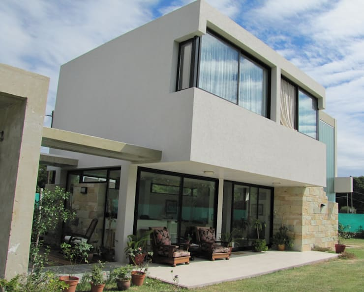 VIVIENDA EN COLASTINE: Casas de estilo  por DUA Arquitectos