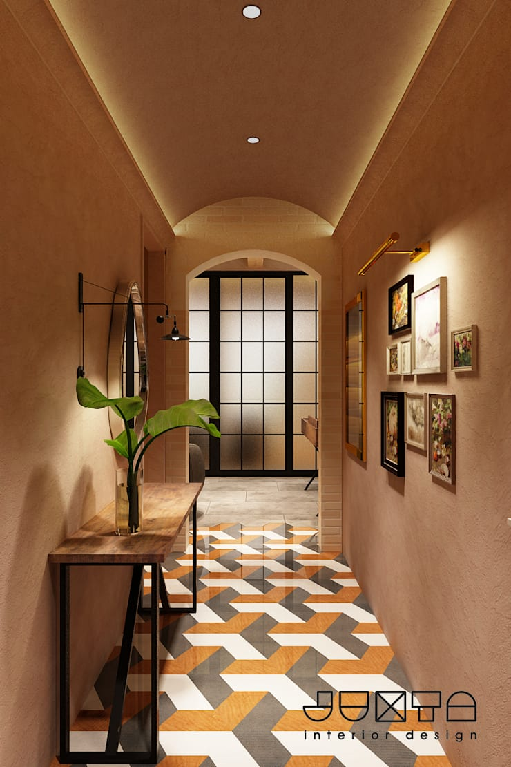 Hallway:  Klinik by Juxta Interior