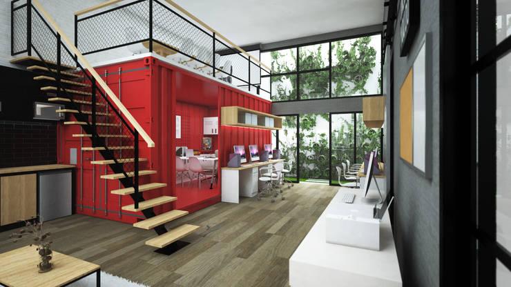GEO Convex Office: Kantor & toko oleh Juxta Interior, Modern