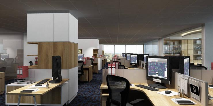 Staff Area:  Kantor & toko by Juxta Interior