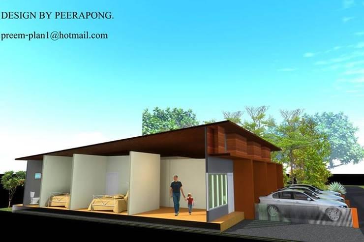 อาคารพณิชย์ 1 ชั้น รับเขียนแบบบ้าน ออกแบบบ้าน:  บ้านและที่อยู่อาศัย by รับเขียนแบบบ้าน&ออกแบบบ้าน